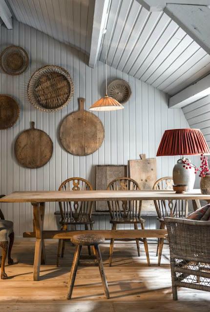 Gorgeous paneled room with Belgian Style interior design - found on Hello Lovely Studio