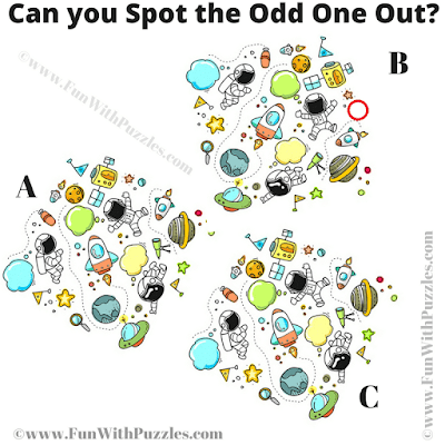 Answer of Spot the Odd One Out Hard Picture Riddle