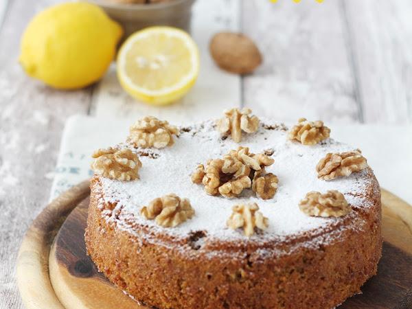 Torta alle noci e limone senza glutine