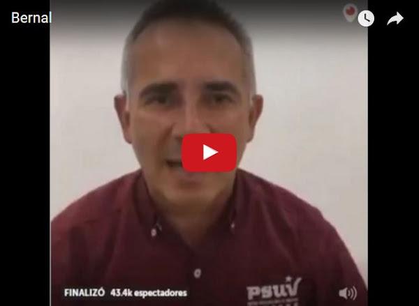 Freddy Bernal dice que es normal escuchar algunas detonaciones