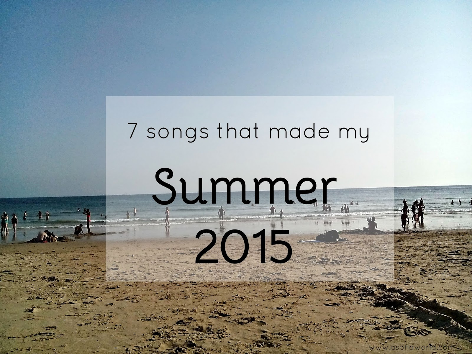 Top 7 songs from Summer 2015.