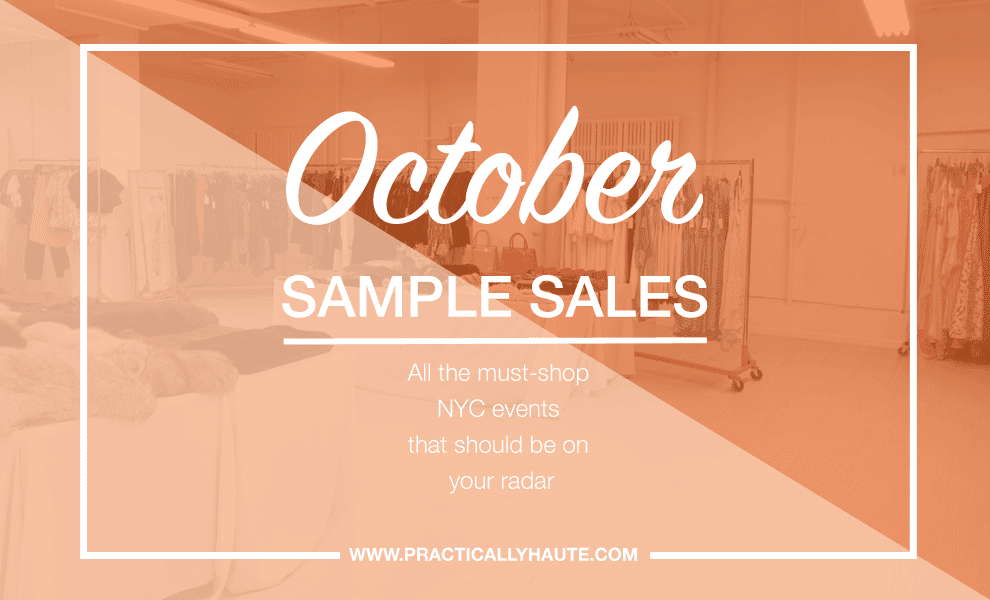 NYC October sample sale