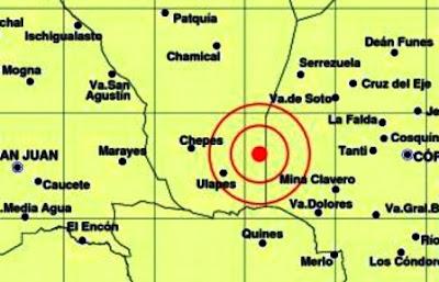 Un sismo de 5.1 en la escala de Richter afectó esta noche el sur de la provincia de La Rioja y se sintió además en Córdoba, San Juan y San Luis sin que hasta el momento se reportaran víctimas ni daños materiales, informó el Instituto Nacional de Prevención Sísmica (Inpres).