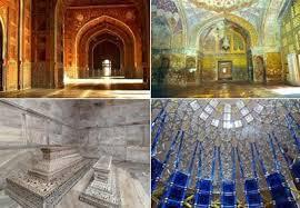 interior masjid serta  makam Shah Jahan dan Mumtaz Mahal