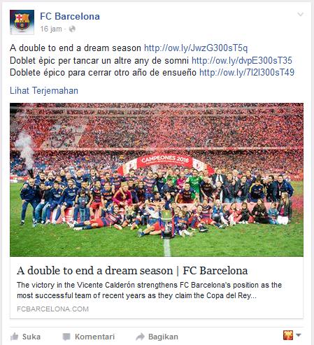 Status Facebook Barcelona Merayakan Juara Copa Del Rey 2016 - Dipopedia