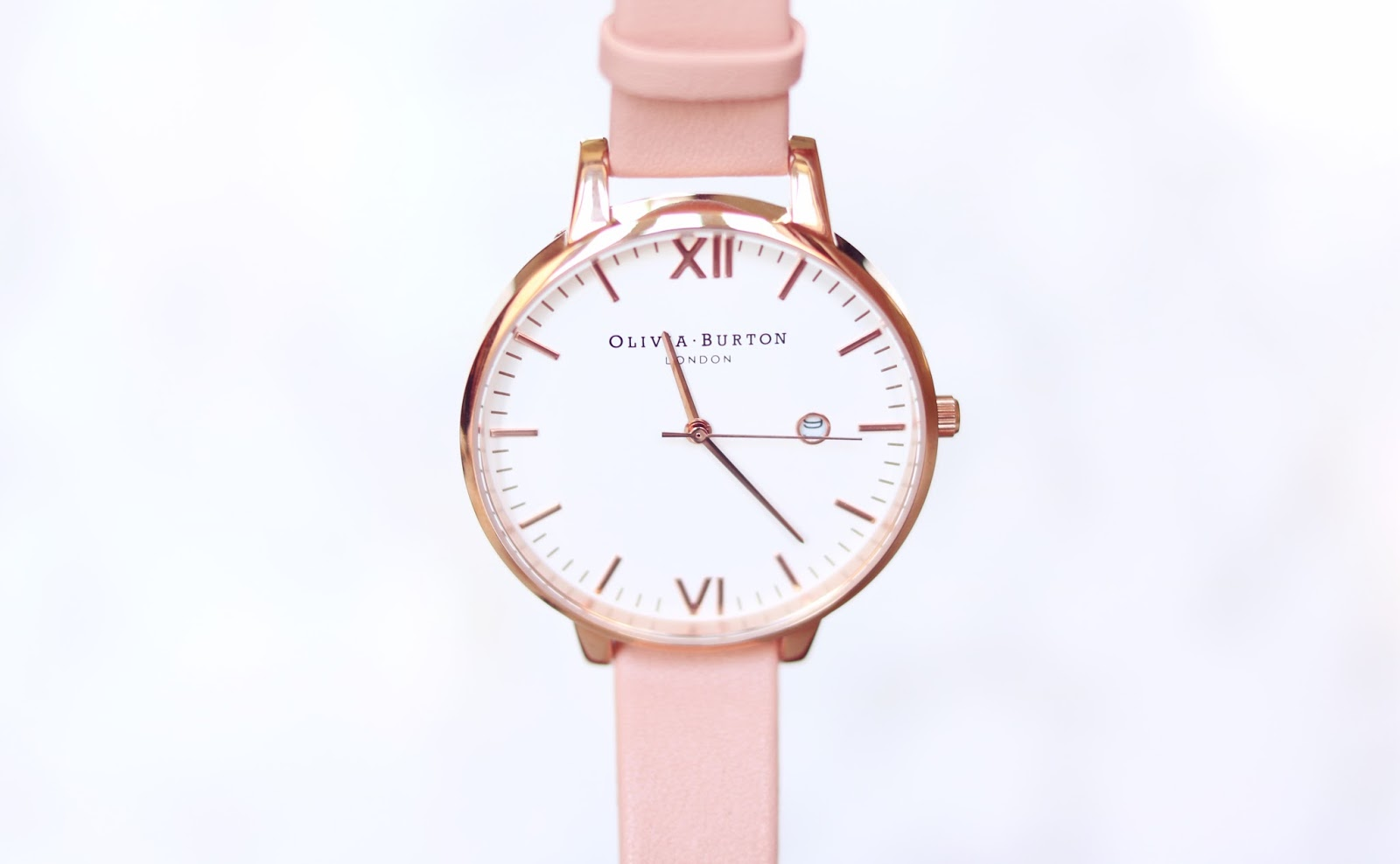 Olivia Burton Rose Gold and Dusty Pink watch from the Timeless Collection