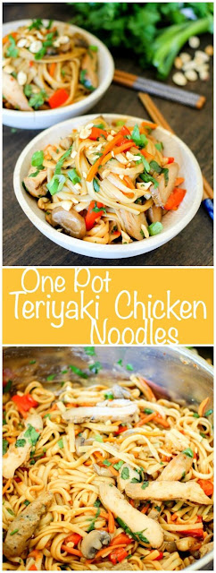 One Pot Teriyaki Chicken Noodles - Healthy Food