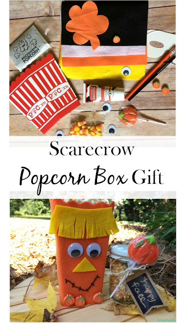 Use a popcorn box as cute packaging for a fun fall treat or to gift to a friend or neighbor!