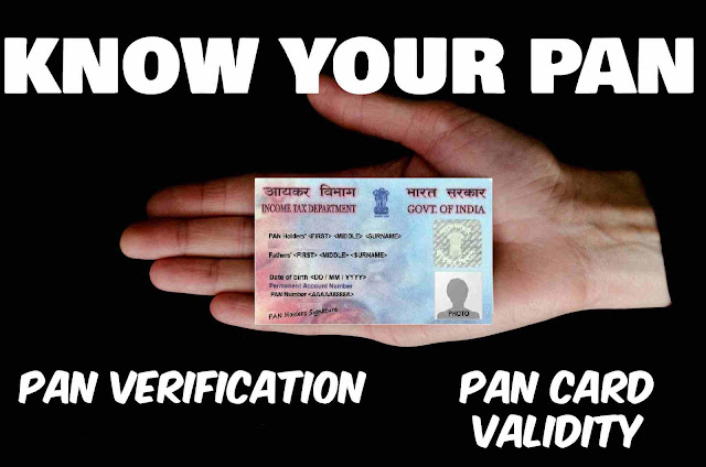 Know Your PAN, Check PAN Card Validity and PAN Verification