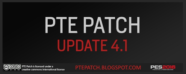 PES 2016 PTE Patch 4.1 Update Single Link