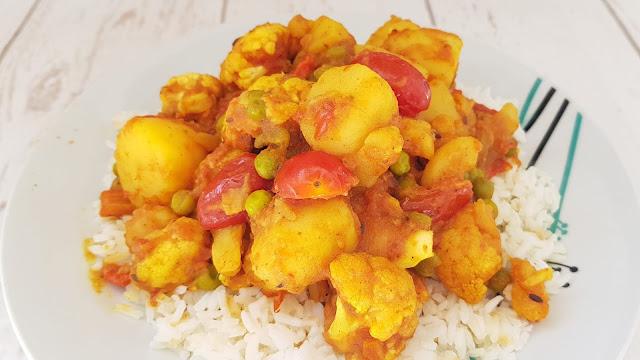 Aloo Gobi o guiso de coliflor y patata