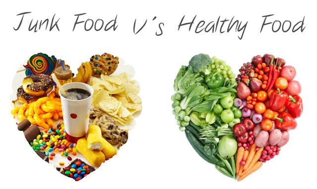 Junk Food vs Healthy Food
