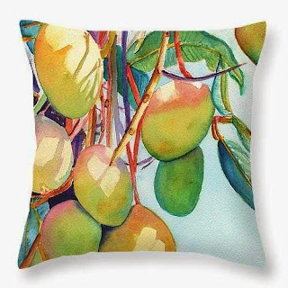 Mangoes Throw Pillow