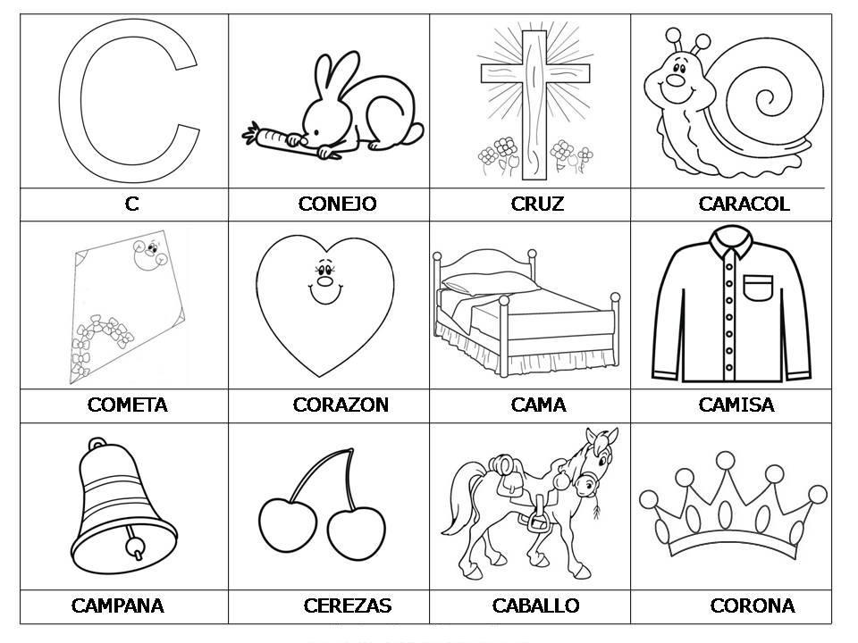 Dibujos Para Colorear Letra Q: Imagenes De Objetos Para Colorear Q Inicien Con O
