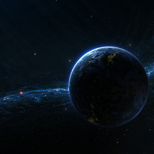 Earth in Space Wallpaper Engine