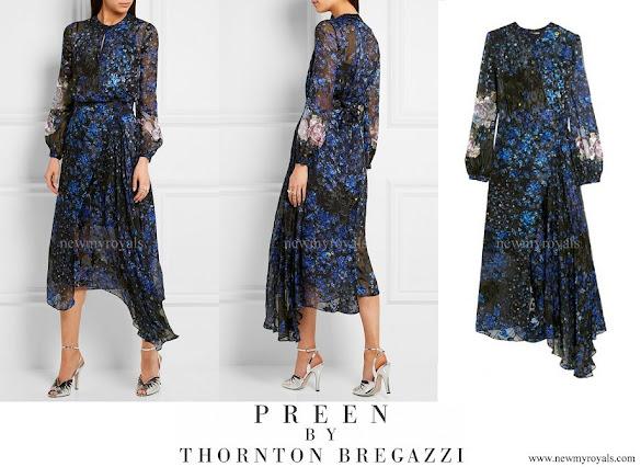 Princess Charlene wore PREEN BY THORNTON BREGAZZI Aurora Devoré Dress