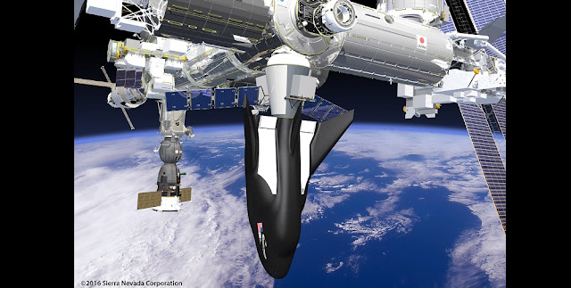 SNC's Dream Chaser Spacecraft and Cargo Module attached to the ISS. Credit: SNC