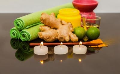 Ilustrasi Mandi Rempah Rempah dengan Aromatherapi
