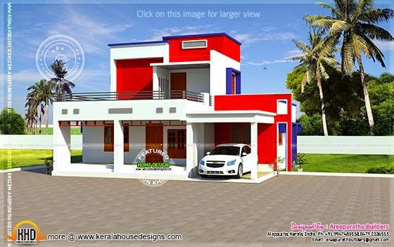Colorful modern villa