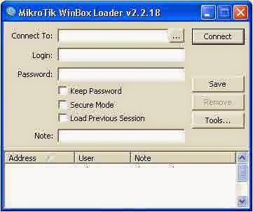 mikrotik winbox interface before login to routeros