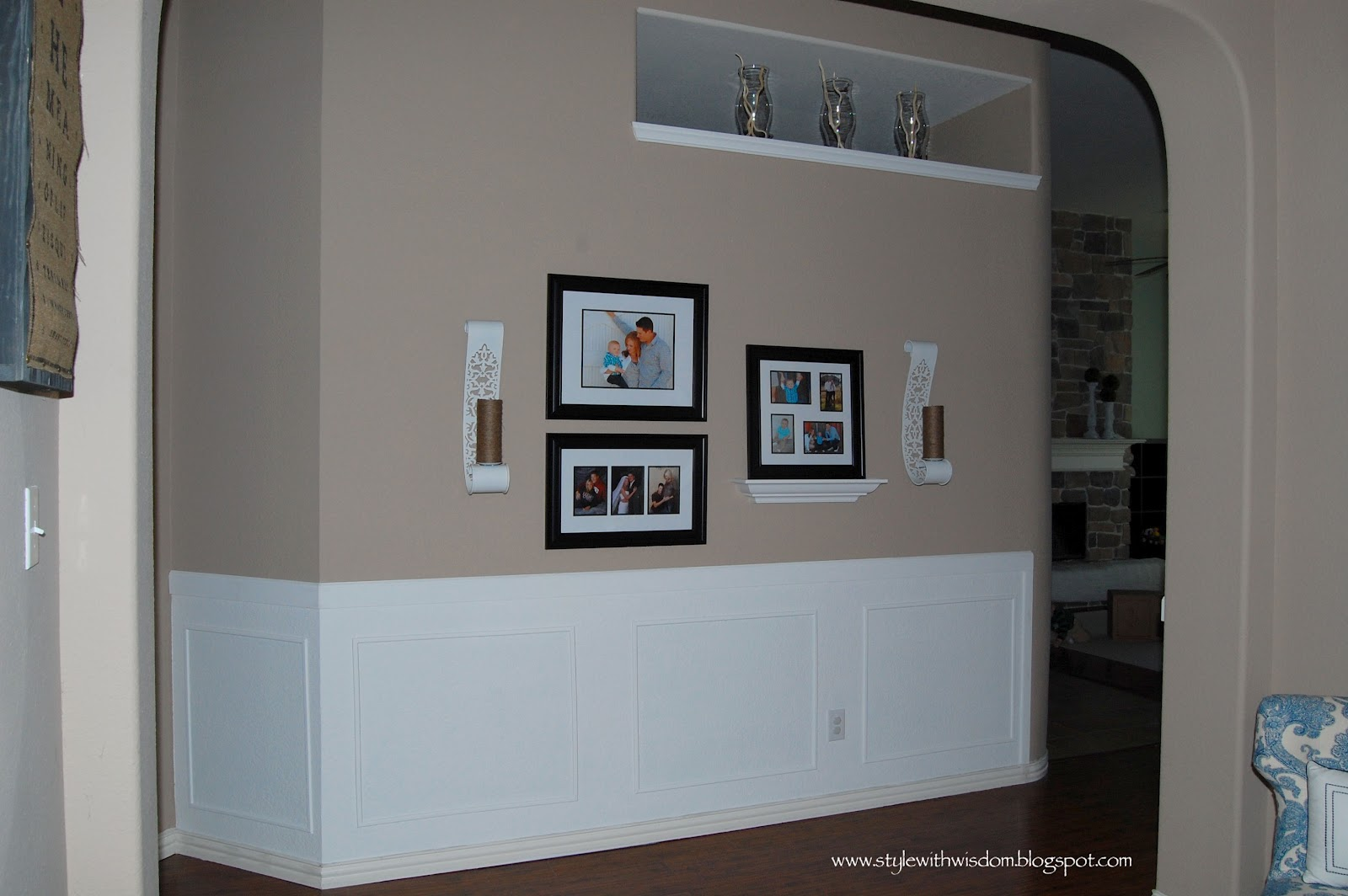 picture frame moulding below chair rail bedroom lounge ikea style with wisdom the hallway is finished