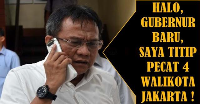 Anies-Sandi Belum Dilantik, M Taufik Sudah Minta Mereka Pecat 4 Walikota Jakarta