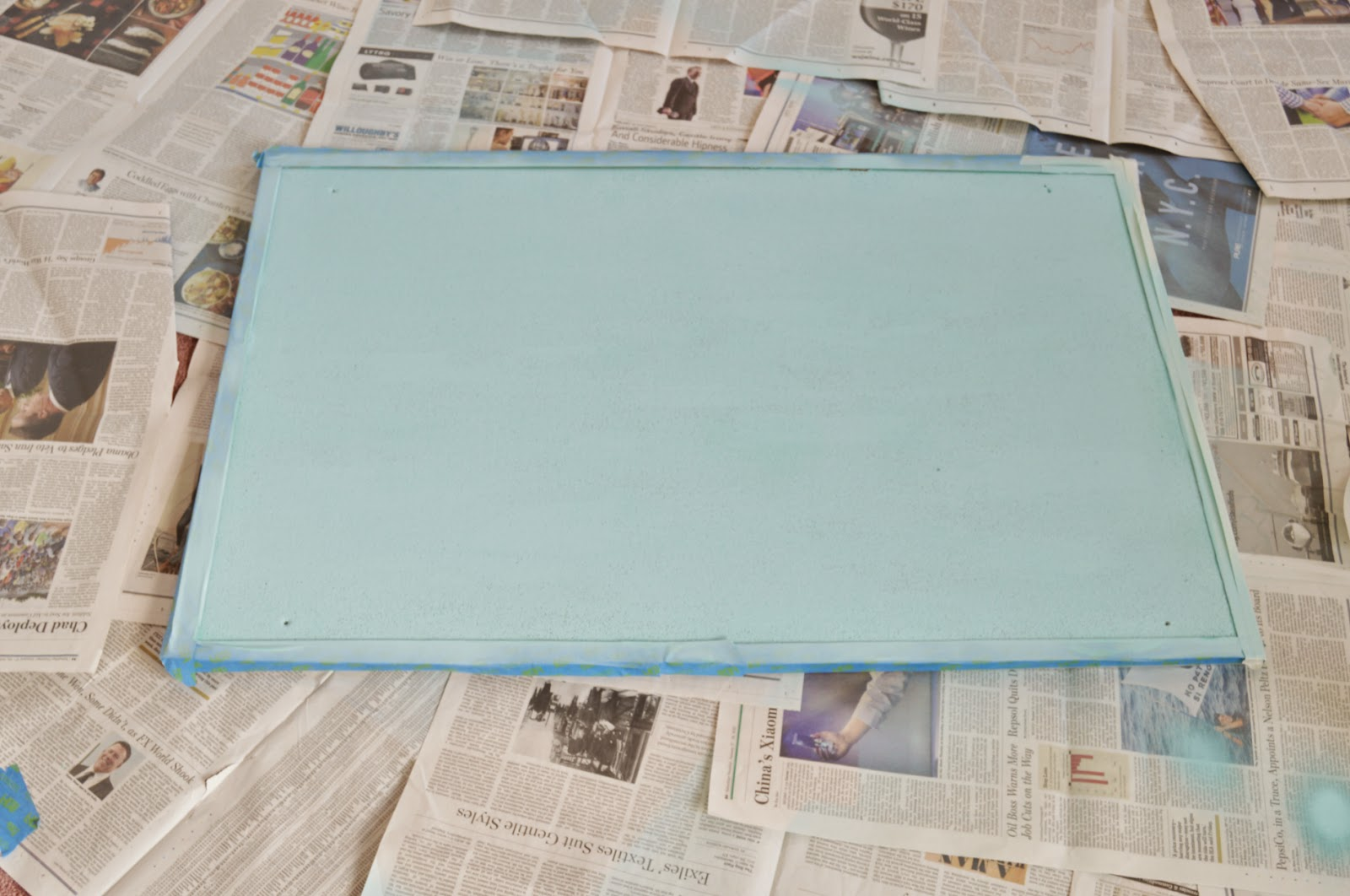 Step 1 Cover The Cork Board Frame If You Have One With Painter S Tape Or Masking And Spray Paint Color Of Your Choice
