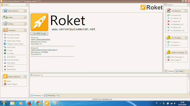 software pulsa roket