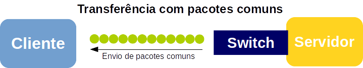 Transferência de pacotes TCP/IP comuns