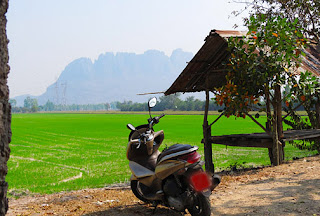travel with the motorbike in Thailand