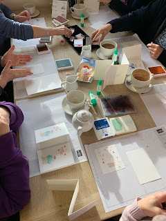 Stamping at Coffee and Cards