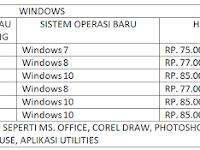 JASA INSTAL DAN UPGRADE KOMPUTER DAN LAPTOP SISTEM OPERASI WINDOWS XP 7 8 10