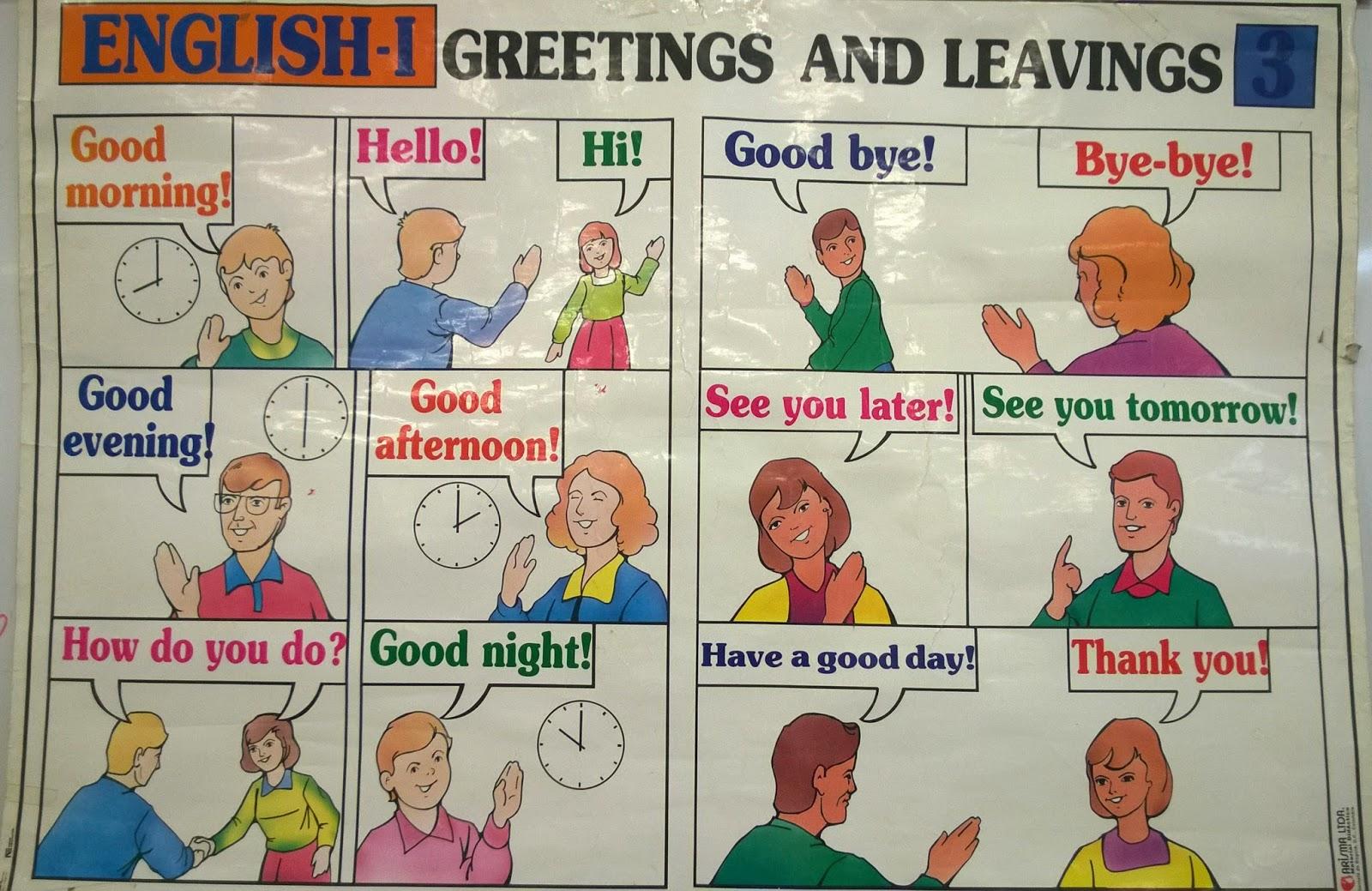 Saludos Y Despedidas En Ingles Formales E Informales
