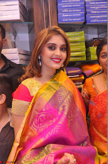 Surabhi looks stunning in Saree at Nakshatra Fashion Store Launch at Suchitra X Road 27.JPG