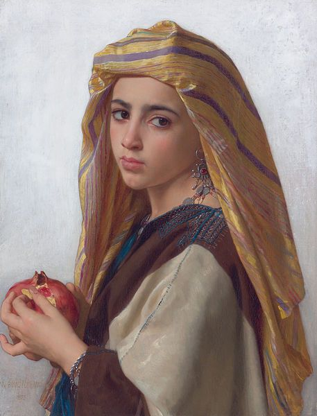 """Girl With a Pomegranate""  William Bouguereau"
