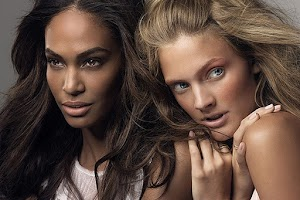 Constance Jablonski and Joan Smalls in a new campaign Estee Lauder