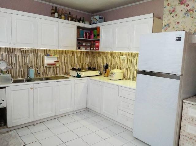 Denah ruang dapur tipe60 3 dimensi tampak dari depan