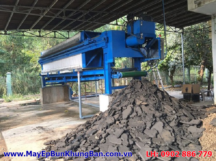 Chất lượng bùn khô sau khi ép từ máy ép bùn khung bản Việt Nam không thua kém máy nhập khẩu nào