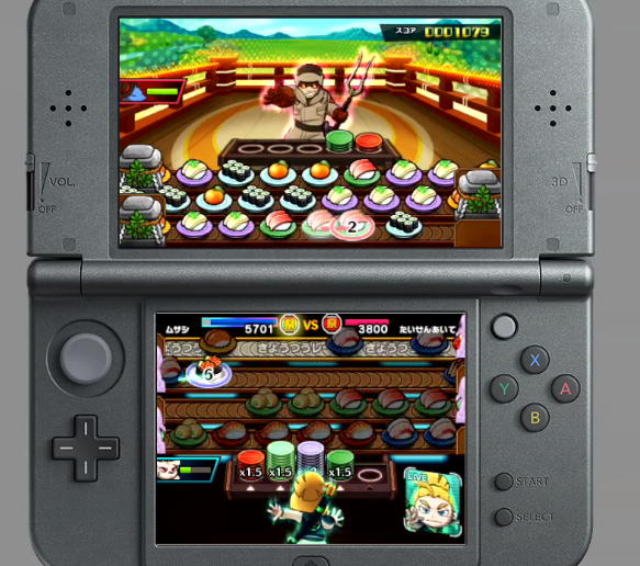 Sushi Striker The Way of Sushido normal gameplay Nintendo 3DS