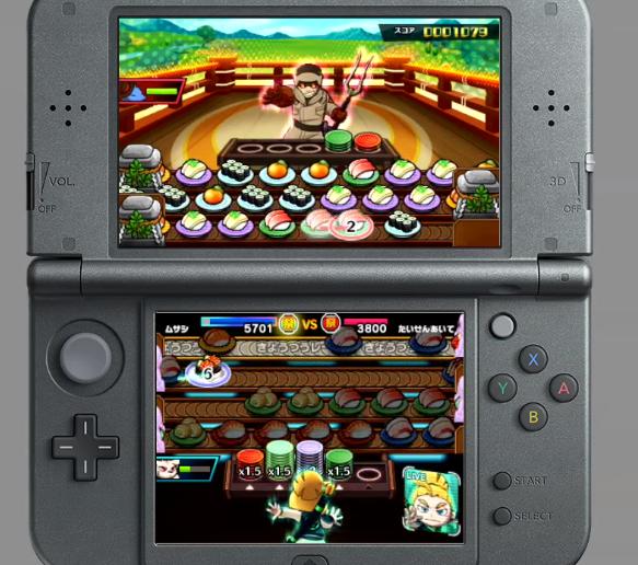 Sushi Striker The Way of Sushido normal gameplay Nintendo 3DS