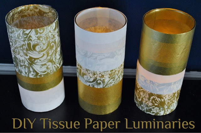 tissue paper luminaries