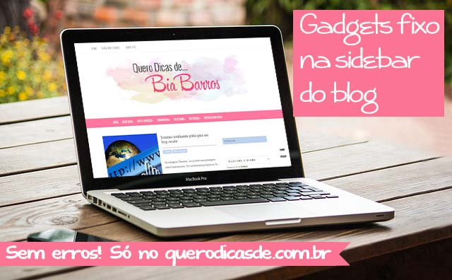 gadget fixo na sidebar do blog