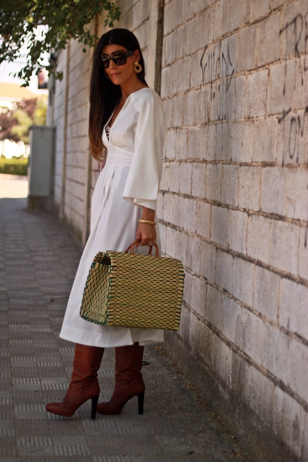 Vestido midi, vestido blanco, white dress