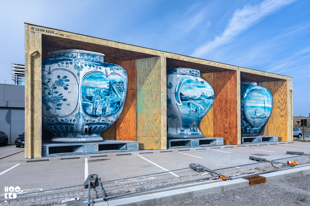 Completed 3D Mural 'Fragile' by Leon Keer in Ostend, Belgium