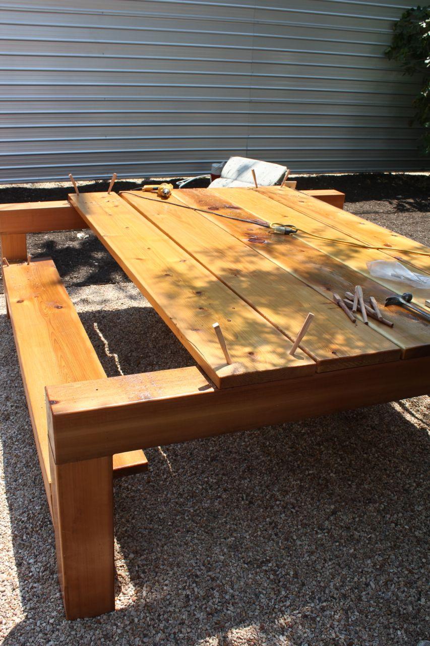 Austin Cubed A Modern Picnic Table