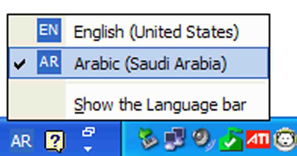 Arabic language download for windows xp