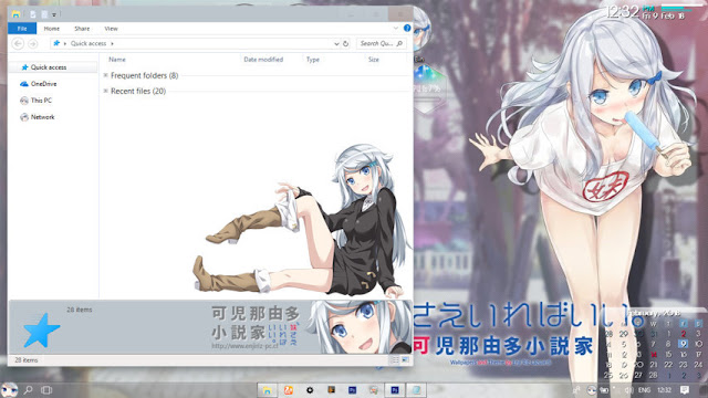Windows 10 Ver. 1709 Theme Nayuta Kani by Enji Riz
