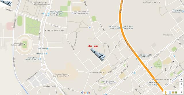 Vị trí five Star Mỹ Đình trên bản đồ google map