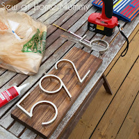 Easy DIY Mid Century Modern Floating House Numbers - Using Home Depot Paint Sticks