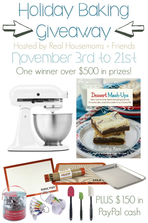 HUGE Holiday Baking Giveaway! via thefrugalfoodiemama.com - win a KitchenAid mixer, a holiday baking prize pack, and $150 PayPal cash!